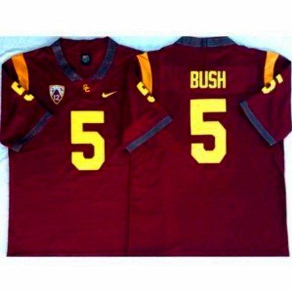 USC Trojans Reggie Bush 5 Scarlet Jersey